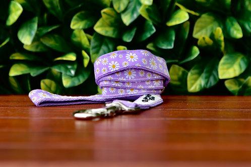 Purple Daisy Dog Lead / Dog Leash