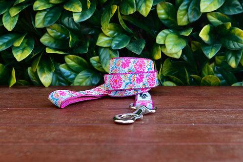 Pink Floral Dog Lead / Dog Leash