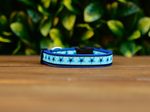 Blue Stars Dog Collar / XS - M