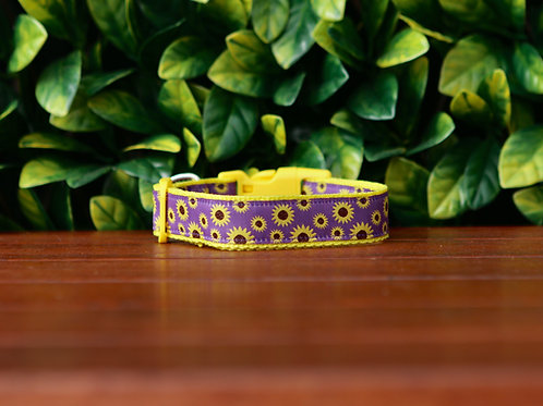 Sunflower Dog Collar / Floral / XS - L