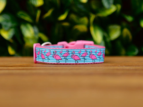 Flamingo Dog Collar / S - L