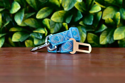 Blue Aztec Seatbelt / Pet Tether