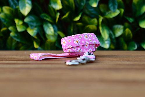 Pink Daisy Dog Lead / Dog Leash