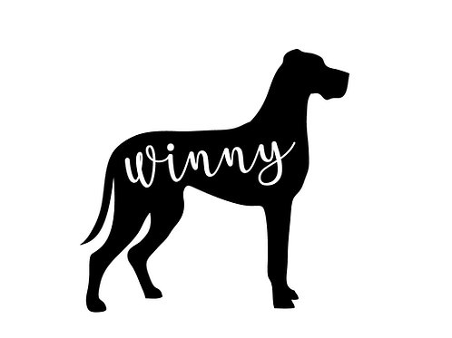 Personalised Great Dane Decal / Sticker