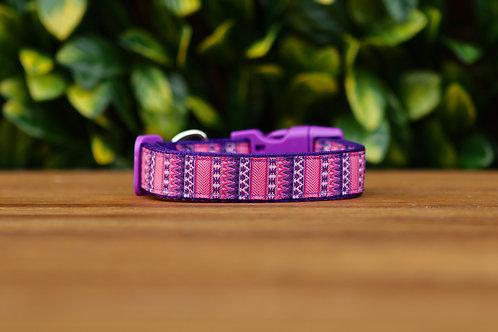Aztec Dog Collar / Pink / Purple / S - L