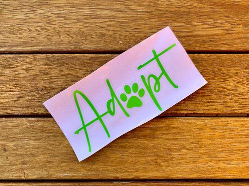 Adopt Decal / Sticker / Paw Print