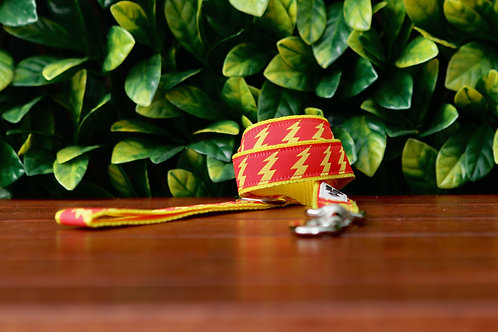 Lightning Bolt - Yellow Dog Lead / Dog Leash