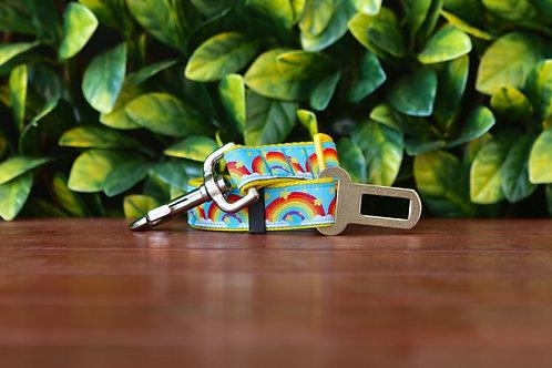 Rainbow Seatbelt / Pet Tether