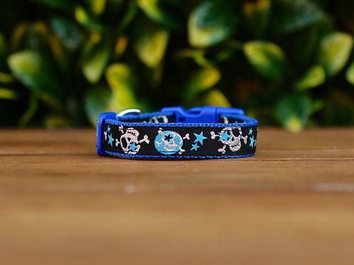 Glitter Skulls & Stars Dog Collar / XS - M