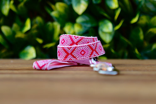 Pink Aztec Dog Lead / Dog Leash