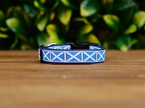 Scottish Flag Dog Collar / XS - M