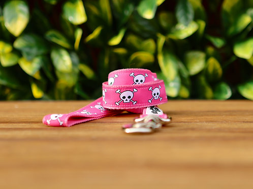 Pink Skulls Dog Lead / Dog Leash