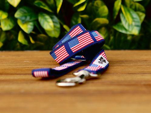 American Flag Dog Lead / Dog Leash