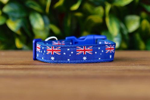 Australian Flag Dog Collar / Flag / XS - L