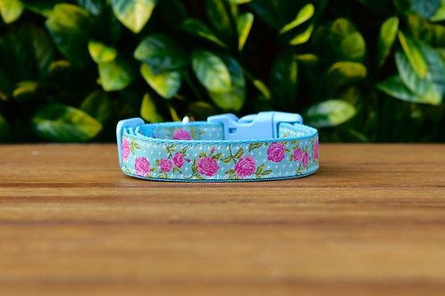Blue Rose Dog Collar / XS - L