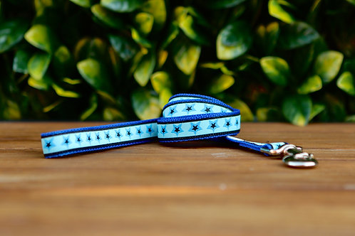 Blue Stars Dog Lead / Dog Leash