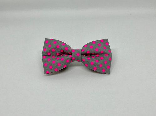Neon Spot - Pink Bow Tie