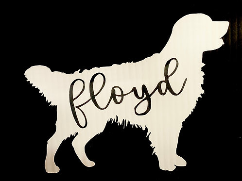 Personalised Golden Retriever Decal / Sticker