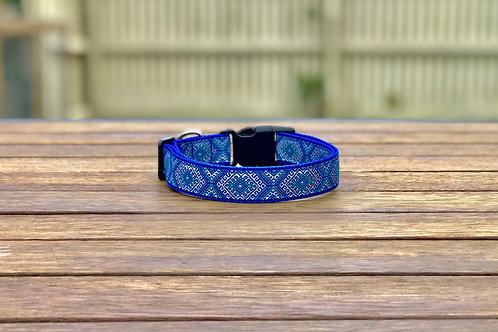 Royal Blue Aztec Dog Collar / XS - L