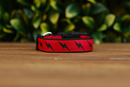 Lightning Bolt - Black Dog Collar / Black / XS - L