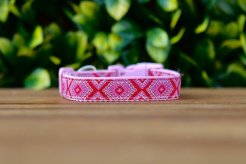Pink Aztec Dog Collar / XS - L