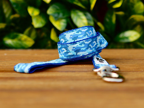 Camouflage Dog Lead / Blue / Dog Leash