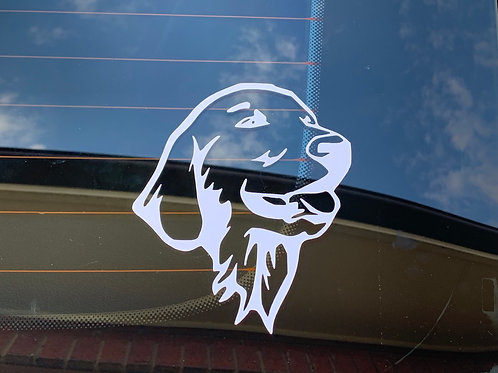 Golden Retriever Face Decal / Sticker