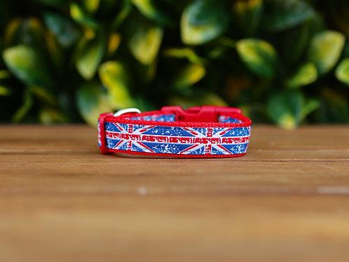 Small Union Jack Dog Collar / XS - M
