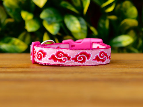 Pink Cloud Dog Collar / S - L
