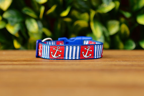 Nautical Dog Collar / XS - L