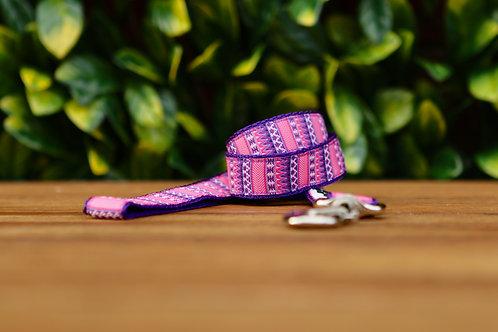 Aztec Dog Lead / Pink / Purple / Dog Leash