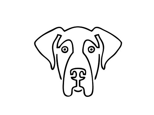 Great Dane Face Decal / Sticker