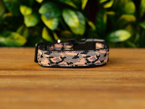 Camouflage Dog Collar / Black / S - L