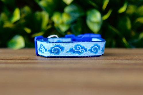 Blue Cloud Dog Collar / S - L