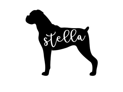 Personalised Boxer Decal / Sticker