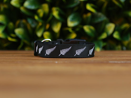 Silver Ferns Dog Collar / New Zealand / XS - L