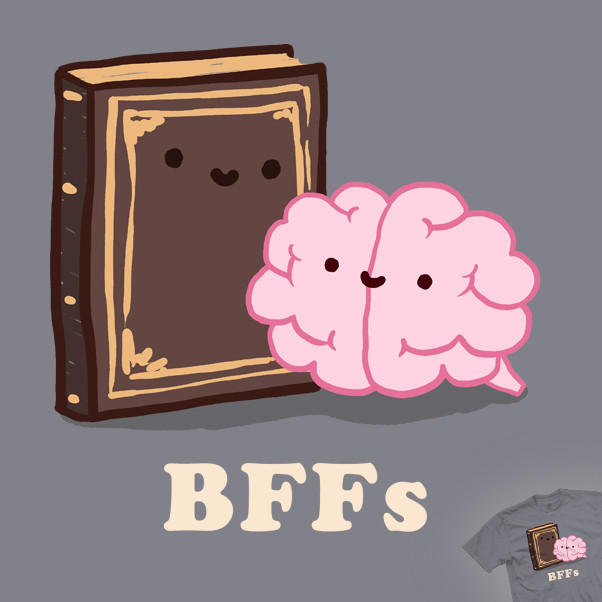 Book And Brain Reading Friends Forever