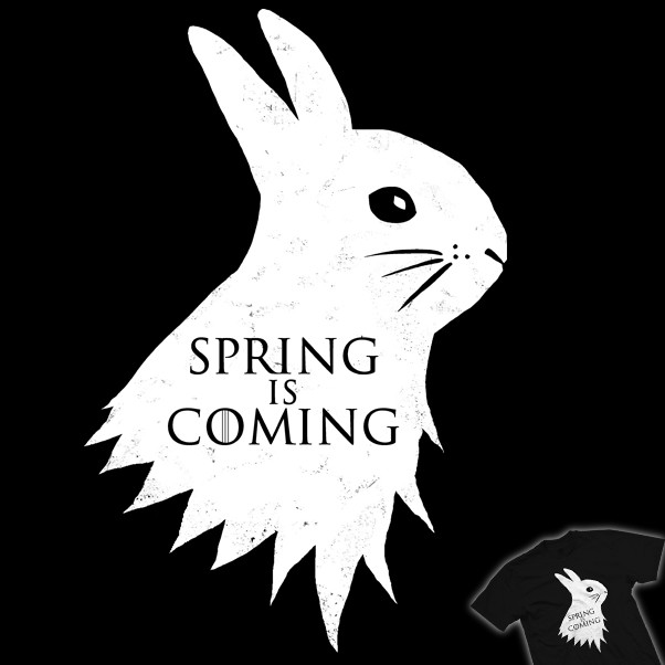 spring is coming bunny design