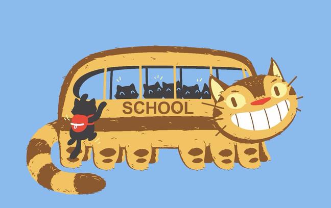 School Catbus Collab!                        Poopycakes x Spiritgreen
