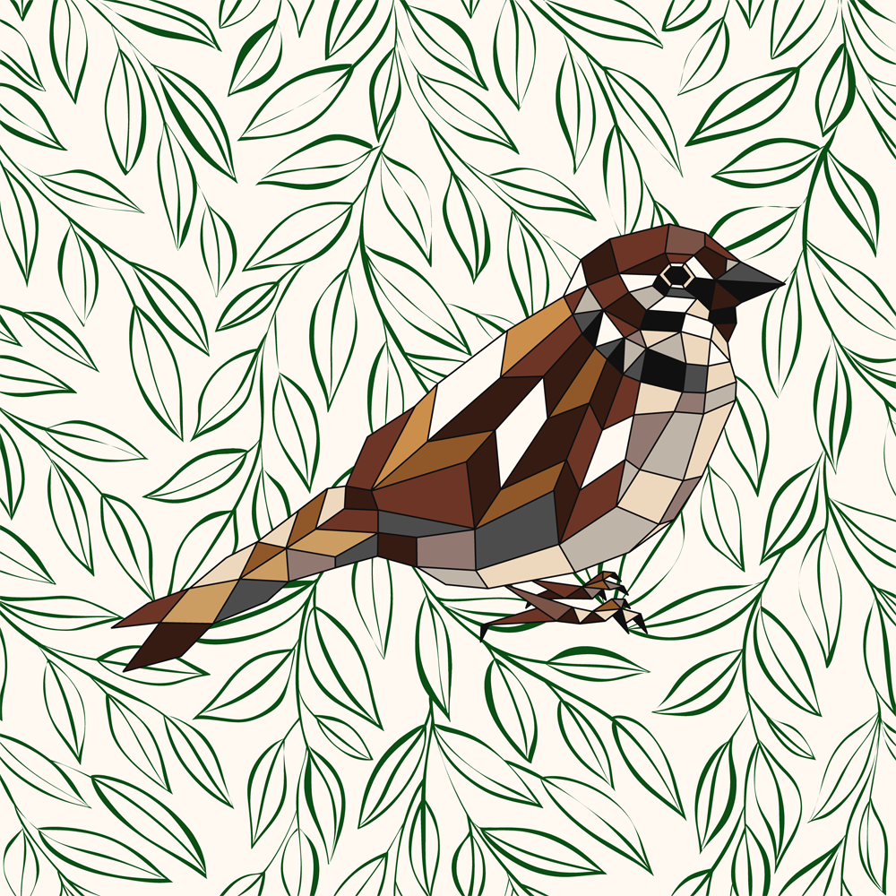 London Sparrow Geometric Design
