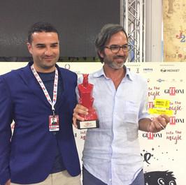 Alla premiazione del Giffoni Film Festival 2017. Con Gioacchino Balistreri