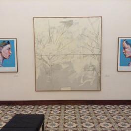 Museo Guttuso, Collezione permanente. Ai lati del grande Mario Schifano