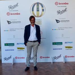 Alla premiazione dei Globi d'Oro 2017. Villa Medici, Roma