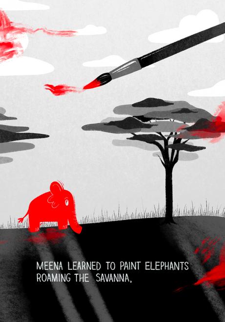 Meena in Captivity Page Three