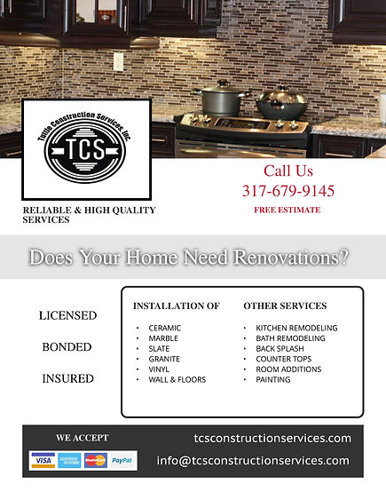 Kitchen Remodel / Indianapolis, IN General Contractor, TCS Construction Indiana, Tile Installer Indiana, Kitchen Backsplash Indianapolis