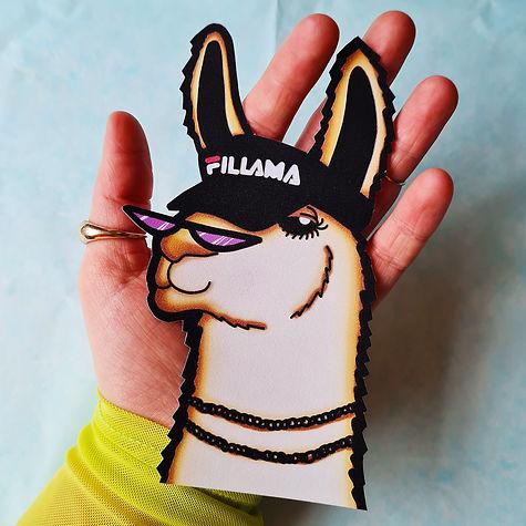 'Fillama' Eco Paper Sticker