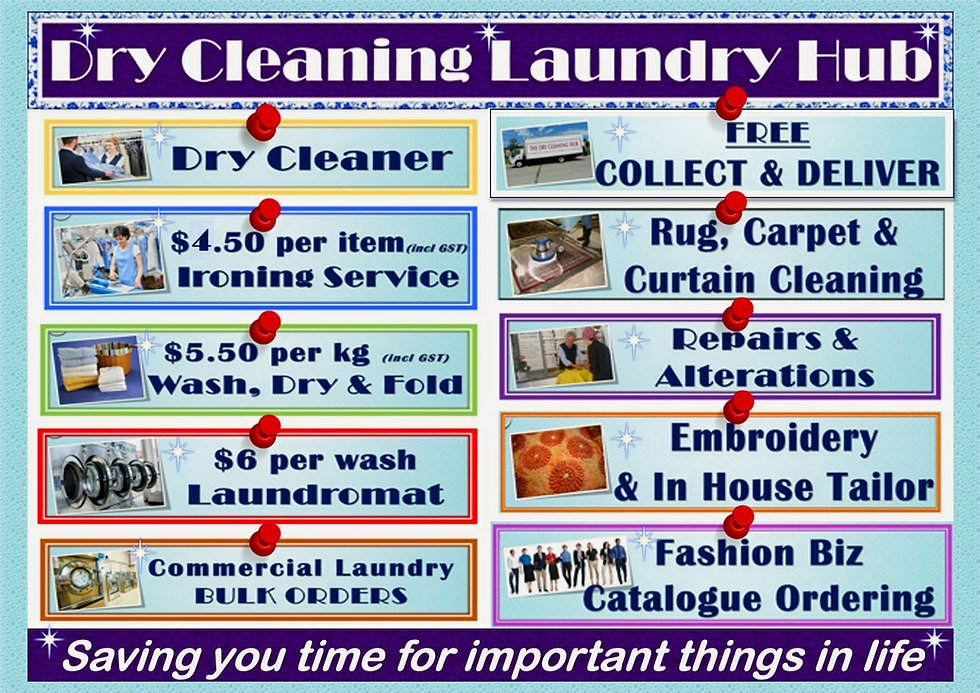 Dry Cleaning Laundry Hub. The Dry Cleaning Hub. Dry Cleaner. Laundry Service. Commercial Laundry Service. Wedding Dress Dry Cleaning. Tailor. Clothing Repairs and Alteration Service. Ironing. Pressing. Laundrette. Laundromat. Curtain Cleaning. Rug cleaning. Carpet Cleaning. Workwear. Retailer.