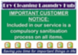 notice to customers landscape A0 disinfe