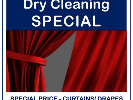 If you thought it was too expensive to dry clean curtains, think again.