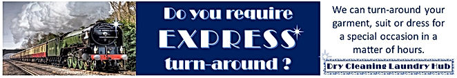 Express. Dry Cleaning Laundry Hub.Dry Cleaning Laundry Hub. The Dry Cleaning Hub. Dry Cleaner. Laundry Service. Commercial Laundry Service. Wedding Dress Dry Cleaning. Tailor. Clothing Repairs and Alteration Service. Ironing. Pressing. Retailer Clothing and Uniforms. Fashion Biz. Biz Wear Retailer. Embroidery. Laundromat. Laundrette